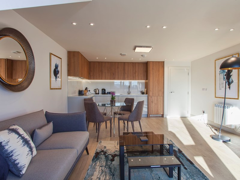 Charles Hope Heathrow South Apartments 1 Bedroom Apartment Lounge Kitchen Diner