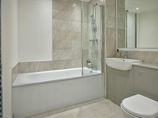 Charles Hope Media City Apartments 2 Bedroom Apartment Bathroom.S