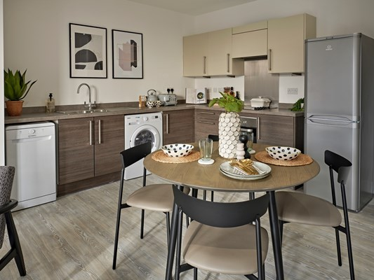 Charles Hope Media City Apartments 2 Bedroom Apartment Kitchen Diner